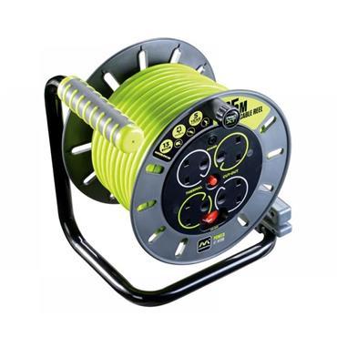 Masterplug PRO-XT Open Cable Reel 25m 13A 4 Socket | LCEOMU25134SL