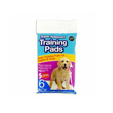 SUPER ABSORBENT PUPPY TRAINING PADS 6 PACK | WP479