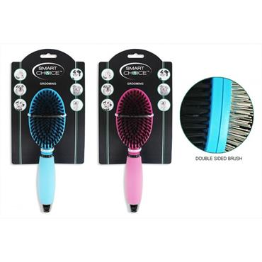 COMFORT DOUBLE SIDED PET GROOMING BRUSH (PINK OR BLUE)