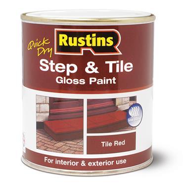 Rustins 500ml Step & Tile Gloss Floor Paint - Tile Red   R479982