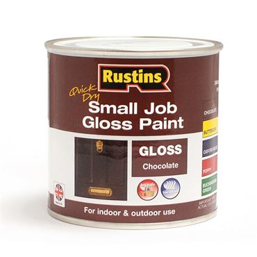 Rustins 250ml Quick Dry Small Job Gloss Paint - Chocolate   R690265