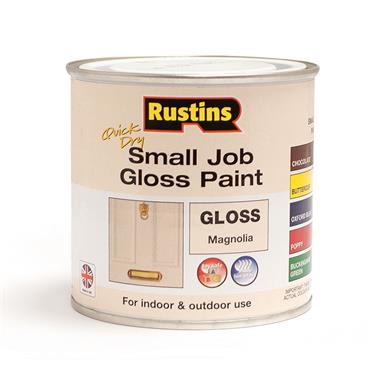 Rustins 250ml Quick Dry Small Job Gloss Paint - Magnolia   R690268