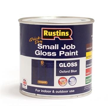 Rustins 250ml Quick Dry Small Job Gloss Paint - Oxford Blue | R690269