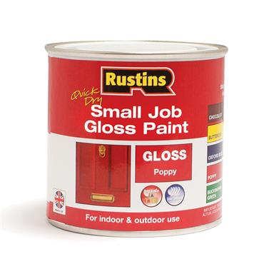 Rustins 250ml Quick Dry Small Job Gloss Paint - Poppy   R690272