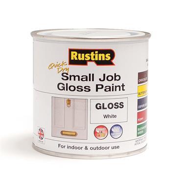 Rustins 250ml Quick Dry Small Job Gloss Paint - White   R690274