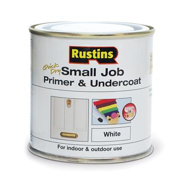 Rustins 250ml Quick Dry Small Job Primer Undercoat - White | R690250