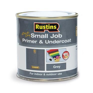 Rustins 250ml Quick Dry Small Job Primer Undercoat - Grey | R690249