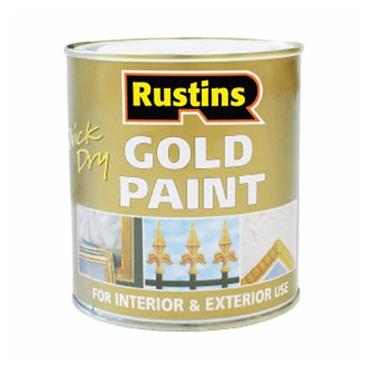 Rustins Quick Drying Gold Paint for Wood or Metal 250ml | R800087