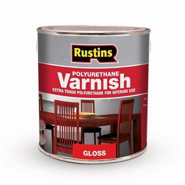 Rustins 250ml Polyurethane Gloss Varnish - Clear   R420002