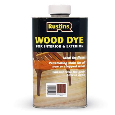 Rustins 250ml Wood Dye - Red Mahogany   R650065