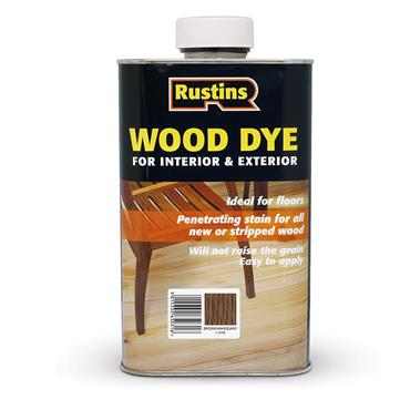 Rustins 250ml Wood Dye - Brown Mahogany   R650066
