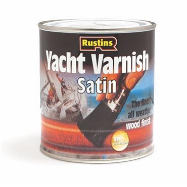 Rustins Yacht Varnish 250ml - Clear Satin   R690307