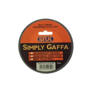 Stuk Simply Gaffa Black Duct Tape 50mm x 50 Yards | 2600-56