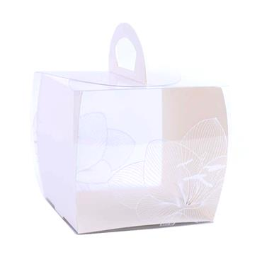 Square Plastic Cake Box with handle | PL0008S