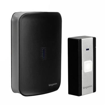 KINGAVON WIRELESS DOOR CHIME BLACK