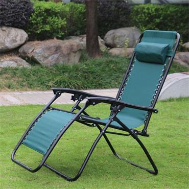 Zero Gravity Recliner Relaxer Chair -  Green (Sun Lounger) | FC114G