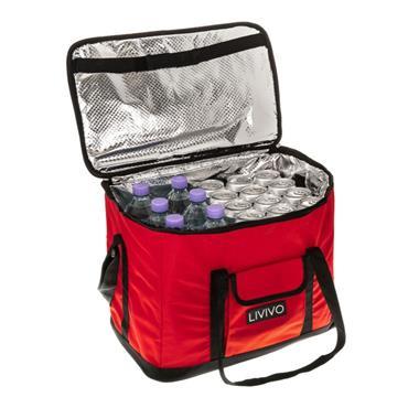 30 LITRE COOLING BAG RED W/STRAP