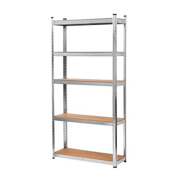 Blackspur Galvanised Steel 5 Tier Boltless Shelving Unit 178cm x 90cm x 30cm | SU130