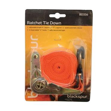 BLACKSPUR 1'' X 15' RATCHET TIE DOWN