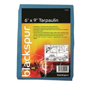 BLACKSPUR 6'(1.8M) X 9'(2.7M) TARPAULIN