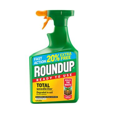 ROUNDUP TOTAL READY TO USE WEEDKILLER 1 lITRE + 20% EXTRA FREE | 4105463