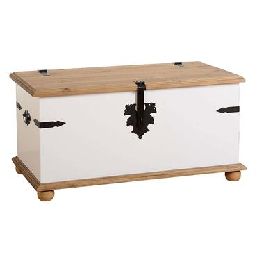 Corona White Storage Trunk | COR021187