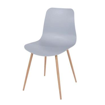 Aspen Grey Plastic Chair with Wooden Legs | COR028315