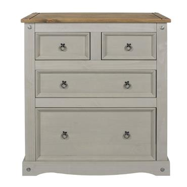 Corona Grey 4 Drawer Chest of Drawers | COR028797