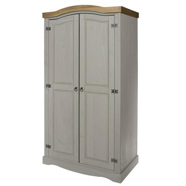 Corona Grey 2 Door Wardrobe | COR028810