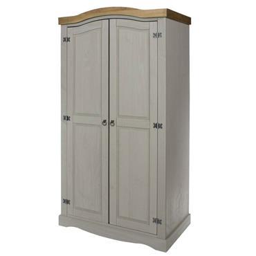 Corona Grey 2 Door Wardrobe | COR028810