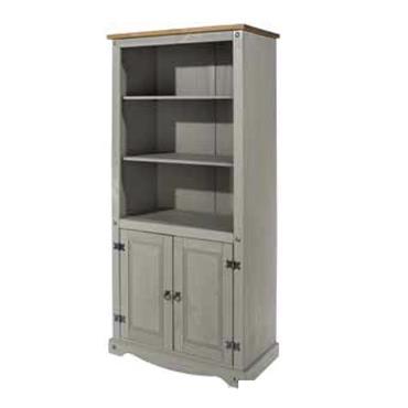 Corona Grey 2 Door Bookcase | COR028896