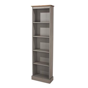 Corona Grey Tall Narrow Bookcase | COR029893