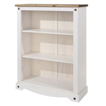 Corona White Low Bookcase | COR918180