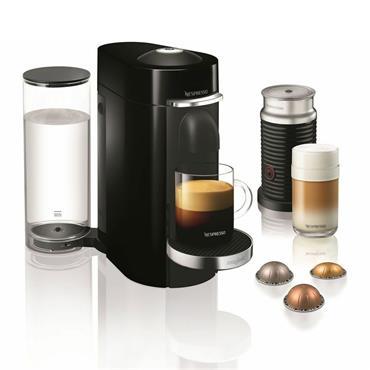 NESPRESSO Vertuo Plus Coffee Machine with Aeroccino - Piano Black | 11387