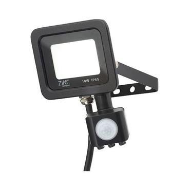 Zinc Rye Slimline LED IP65 Floodlight with PIR Sensor - 10w | 141343