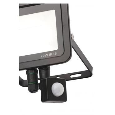 Zinc Rye Slimline LED IP65 Floodlight with PIR Sensor - 20w | 141344