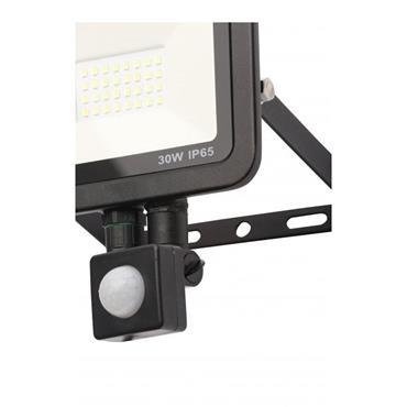 Zinc Rye Slimline LED IP65 Floodlight with PIR Sensor - 30w