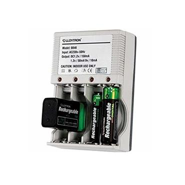 LLOYTRON COMPACT BATTERY CHARGER FOR AAA AA 9V | 1724-34