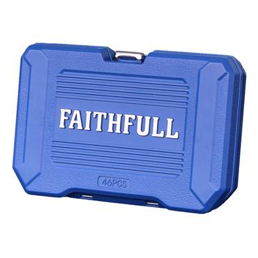 Faithfull Socket Set 46 Piece Metric 1/4in Drive | XMS21SOCK14