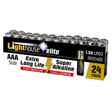 Lighthouse AAA Batteries 24 Pack   XMS21AAA24