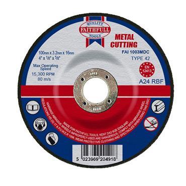 "FAITHFULL 4"" METAL CUTTING DISC"
