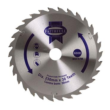 CIRCULAR SAW BLADE TCT 230 X 30MM X 30T