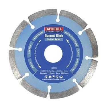 Faithfull Contract Diamond Blade 115 x 22.2mm | FAIDB115C