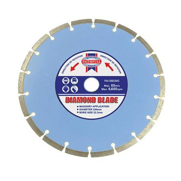 Faithfull Contract Diamond Blade 230 x 22.2mm   FAIDB230C