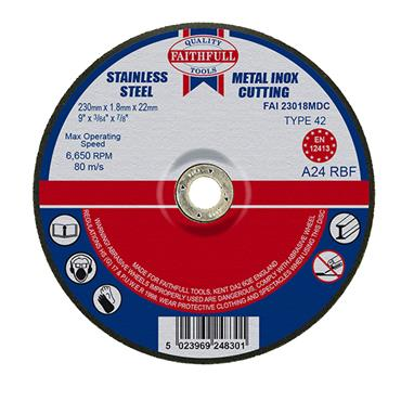 "9"" SLIM METAL CUTTING DISC 230X1.8 X22MM"