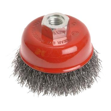 FAITHFULL WIRE CUP BRUSH 100MM X M14