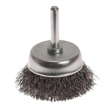 FAITHFULL WIRE CUP BRUSH 75MMX6MM SHANK
