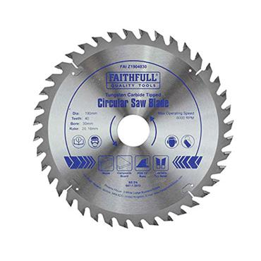 Faithfull TCT Circular Saw Blade 190 x 30mm x 40T POS   FAIZ1904030