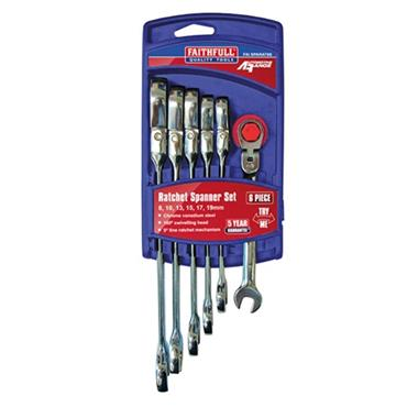 Faithfull Ratchet Spanner Set 6 Piece | XMS19RSPAN6