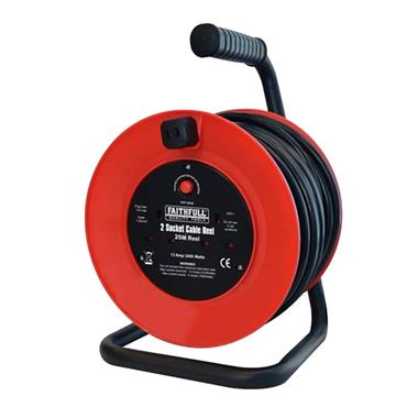Faithfull Power Plus Cable Reel 20m 13A | XMS1920CABLE